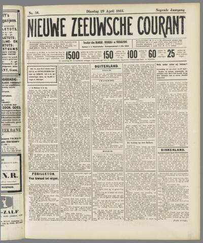 Nieuwe Zeeuwsche Courant 1913-04-29