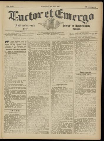 Luctor et Emergo. Antirevolutionair nieuws- en advertentieblad voor Zeeland / Zeeuwsch-Vlaanderen. Orgaan ter verspreiding van de christelijke beginselen in Zeeuwsch-Vlaanderen 1915-06-16