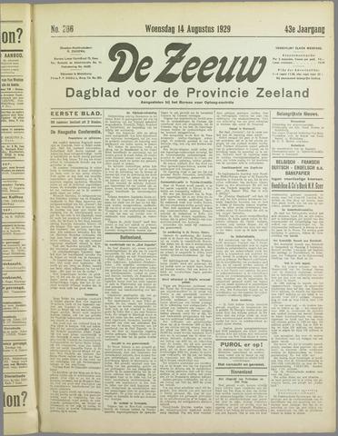 De Zeeuw. Christelijk-historisch nieuwsblad voor Zeeland 1929-08-14