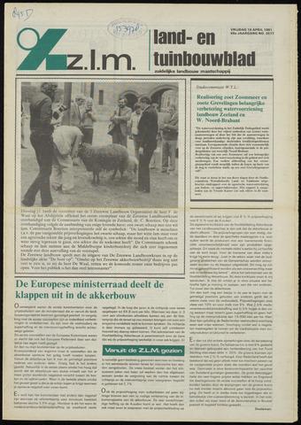 Zeeuwsch landbouwblad ... ZLM land- en tuinbouwblad 1981-04-10