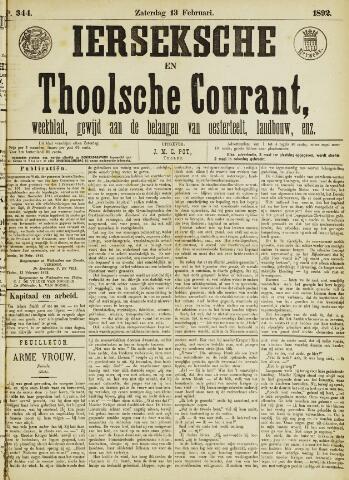Ierseksche en Thoolsche Courant 1892-02-13