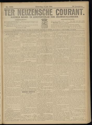 Ter Neuzensche Courant. Algemeen Nieuws- en Advertentieblad voor Zeeuwsch-Vlaanderen / Neuzensche Courant ... (idem) / (Algemeen) nieuws en advertentieblad voor Zeeuwsch-Vlaanderen 1914-07-11