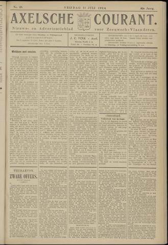 Axelsche Courant 1924-07-11