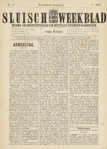 Sluisch Weekblad. Nieuws- en advertentieblad voor Westelijk Zeeuwsch-Vlaanderen 1876-01-21