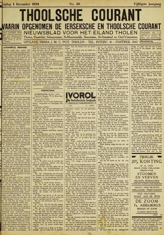 Ierseksche en Thoolsche Courant 1933-12-01