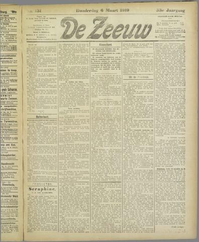 De Zeeuw. Christelijk-historisch nieuwsblad voor Zeeland 1919-03-06
