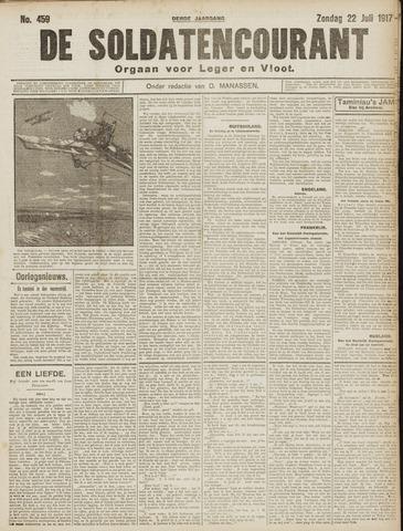 De Soldatencourant. Orgaan voor Leger en Vloot 1917-07-22