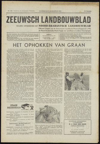 Zeeuwsch landbouwblad ... ZLM land- en tuinbouwblad 1953-08-08