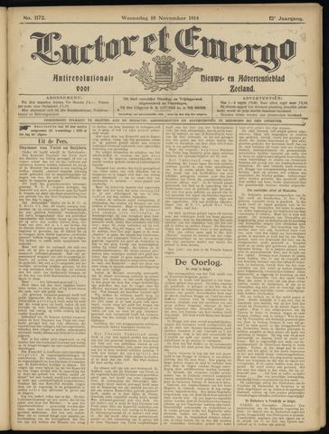 Luctor et Emergo. Antirevolutionair nieuws- en advertentieblad voor Zeeland / Zeeuwsch-Vlaanderen. Orgaan ter verspreiding van de christelijke beginselen in Zeeuwsch-Vlaanderen 1914-11-18