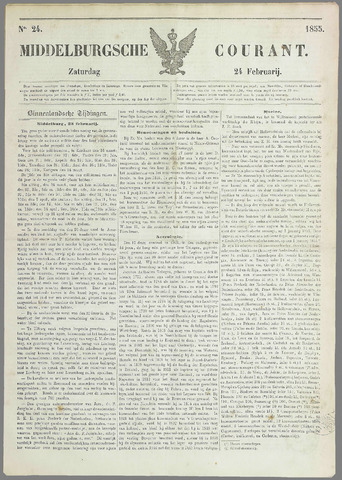 Middelburgsche Courant 1855-02-24