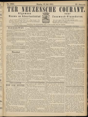 Ter Neuzensche Courant. Algemeen Nieuws- en Advertentieblad voor Zeeuwsch-Vlaanderen / Neuzensche Courant ... (idem) / (Algemeen) nieuws en advertentieblad voor Zeeuwsch-Vlaanderen 1911-07-18