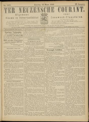 Ter Neuzensche Courant. Algemeen Nieuws- en Advertentieblad voor Zeeuwsch-Vlaanderen / Neuzensche Courant ... (idem) / (Algemeen) nieuws en advertentieblad voor Zeeuwsch-Vlaanderen 1910-03-12