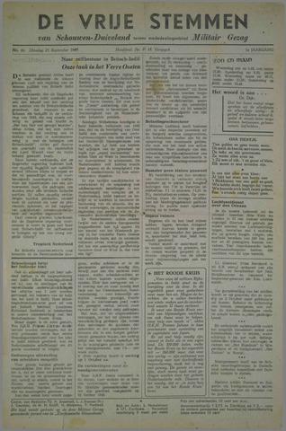 Vrije Stemmen van Schouwen-Duiveland, tevens mededeelingenblad Militair Gezag 1945-09-25