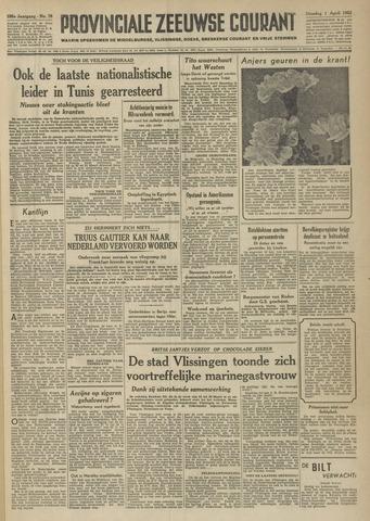 Provinciale Zeeuwse Courant 1952-04-01