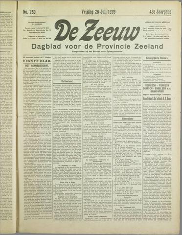 De Zeeuw. Christelijk-historisch nieuwsblad voor Zeeland 1929-07-26
