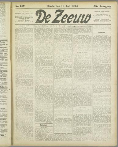 De Zeeuw. Christelijk-historisch nieuwsblad voor Zeeland 1924-07-10