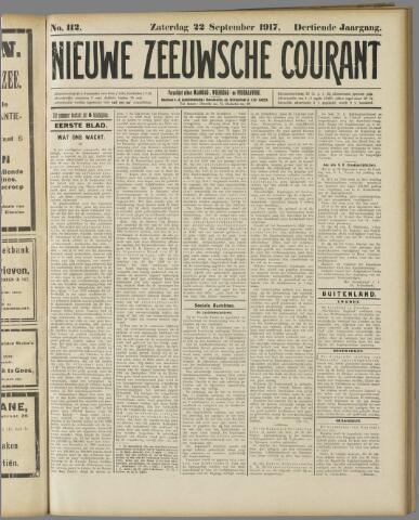 Nieuwe Zeeuwsche Courant 1917-09-22