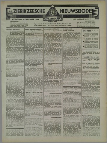 Zierikzeesche Nieuwsbode 1940-09-18