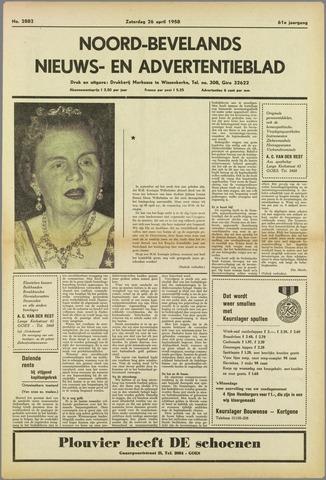 Noord-Bevelands Nieuws- en advertentieblad 1958-04-26