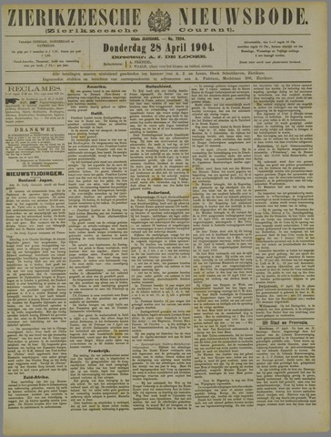 Zierikzeesche Nieuwsbode 1904-04-28
