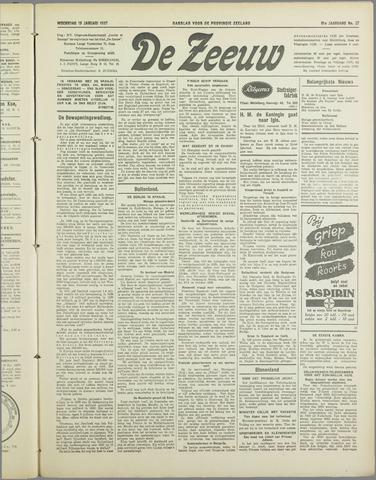 De Zeeuw. Christelijk-historisch nieuwsblad voor Zeeland 1937-01-13