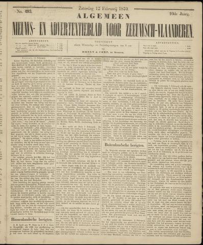 Ter Neuzensche Courant. Algemeen Nieuws- en Advertentieblad voor Zeeuwsch-Vlaanderen / Neuzensche Courant ... (idem) / (Algemeen) nieuws en advertentieblad voor Zeeuwsch-Vlaanderen 1870-02-12