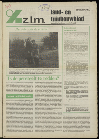 Zeeuwsch landbouwblad ... ZLM land- en tuinbouwblad 1982-07-23