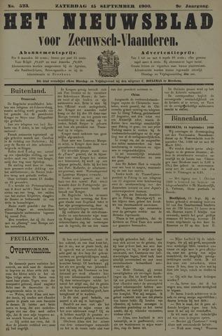 Nieuwsblad voor Zeeuwsch-Vlaanderen 1900-09-15