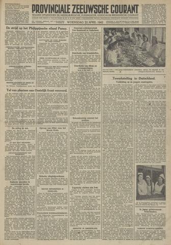 Provinciale Zeeuwse Courant 1942-04-22