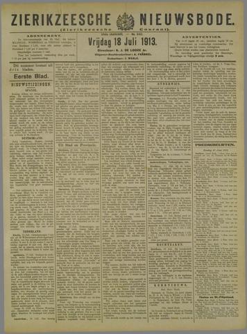 Zierikzeesche Nieuwsbode 1913-07-18