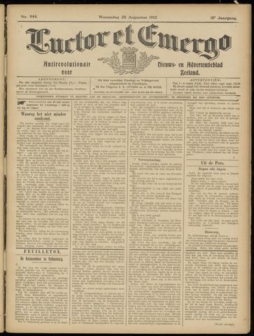 Luctor et Emergo. Antirevolutionair nieuws- en advertentieblad voor Zeeland / Zeeuwsch-Vlaanderen. Orgaan ter verspreiding van de christelijke beginselen in Zeeuwsch-Vlaanderen 1912-08-28