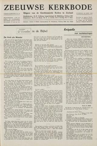 Zeeuwsche kerkbode, weekblad gewijd aan de belangen der gereformeerde kerken/ Zeeuwsch kerkblad 1949-05-20