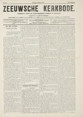 Zeeuwsche kerkbode, weekblad gewijd aan de belangen der gereformeerde kerken/ Zeeuwsch kerkblad 1935-03-08
