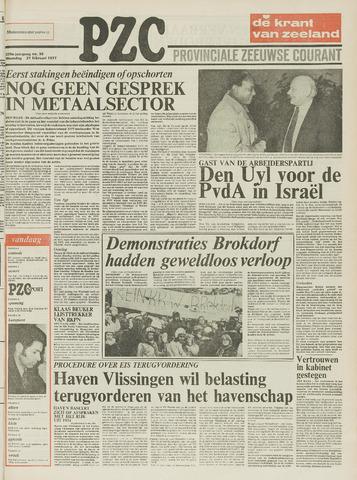 Provinciale Zeeuwse Courant 1977-02-21