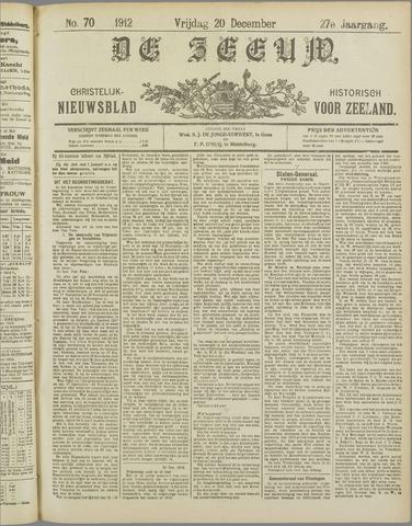 De Zeeuw. Christelijk-historisch nieuwsblad voor Zeeland 1912-12-20