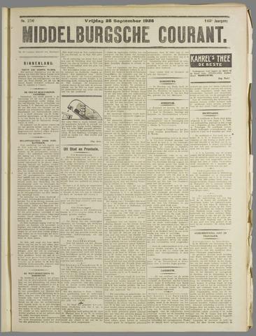 Middelburgsche Courant 1925-09-25