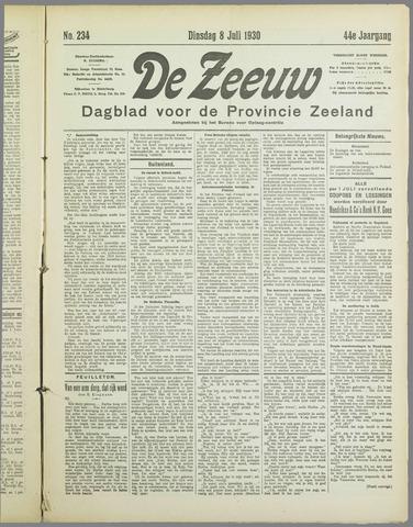 De Zeeuw. Christelijk-historisch nieuwsblad voor Zeeland 1930-07-08