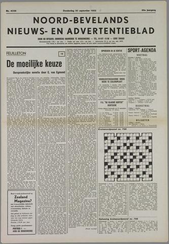 Noord-Bevelands Nieuws- en advertentieblad 1982-09-30