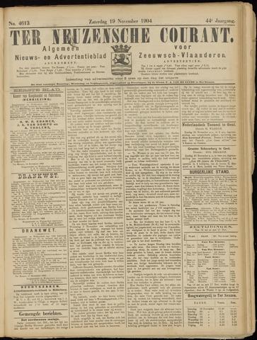 Ter Neuzensche Courant. Algemeen Nieuws- en Advertentieblad voor Zeeuwsch-Vlaanderen / Neuzensche Courant ... (idem) / (Algemeen) nieuws en advertentieblad voor Zeeuwsch-Vlaanderen 1904-11-19