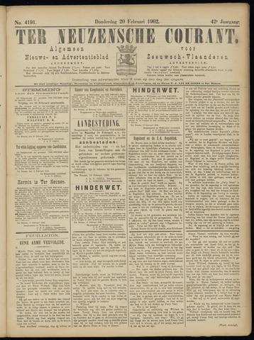 Ter Neuzensche Courant. Algemeen Nieuws- en Advertentieblad voor Zeeuwsch-Vlaanderen / Neuzensche Courant ... (idem) / (Algemeen) nieuws en advertentieblad voor Zeeuwsch-Vlaanderen 1902-02-20
