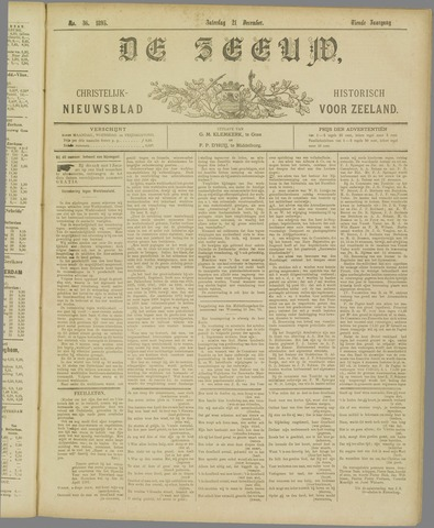 De Zeeuw. Christelijk-historisch nieuwsblad voor Zeeland 1895-12-21