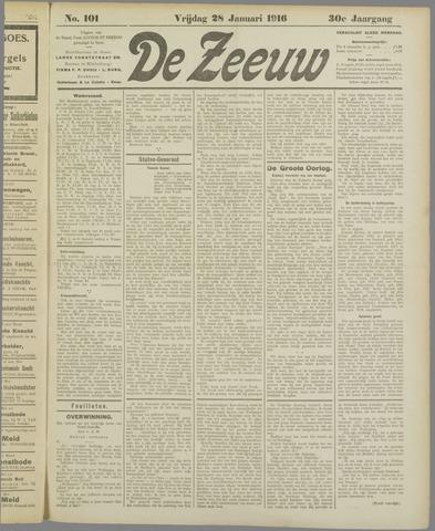 De Zeeuw. Christelijk-historisch nieuwsblad voor Zeeland 1916-01-28