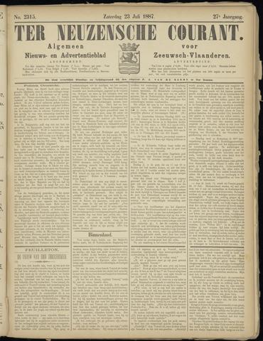 Ter Neuzensche Courant. Algemeen Nieuws- en Advertentieblad voor Zeeuwsch-Vlaanderen / Neuzensche Courant ... (idem) / (Algemeen) nieuws en advertentieblad voor Zeeuwsch-Vlaanderen 1887-07-23