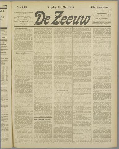 De Zeeuw. Christelijk-historisch nieuwsblad voor Zeeland 1915-05-28