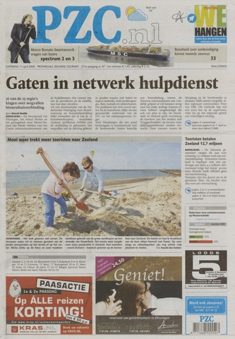 Provinciale Zeeuwse Courant 2009-04-11