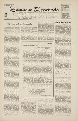 Zeeuwsche kerkbode, weekblad gewijd aan de belangen der gereformeerde kerken/ Zeeuwsch kerkblad 1965-02-12