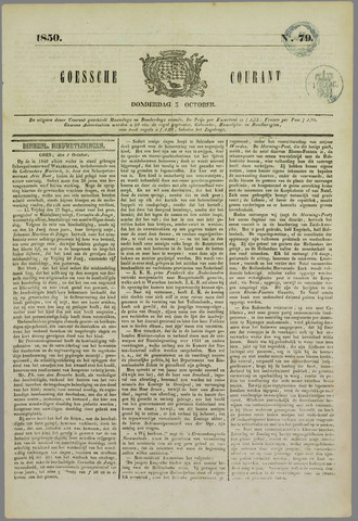 Goessche Courant 1850-10-03