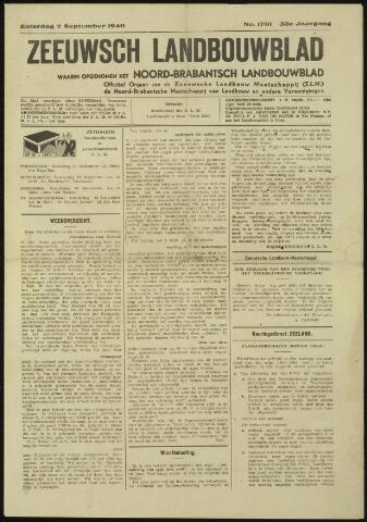 Zeeuwsch landbouwblad ... ZLM land- en tuinbouwblad 1940-09-07