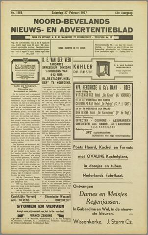 Noord-Bevelands Nieuws- en advertentieblad 1937-02-27