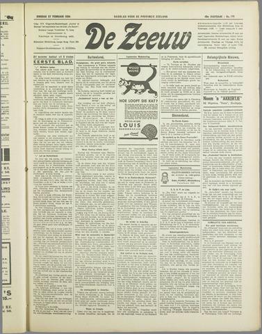 De Zeeuw. Christelijk-historisch nieuwsblad voor Zeeland 1934-02-27